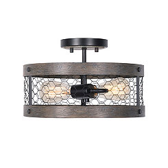 Canyon Chicken Wire Semi-Flush Ceiling Light