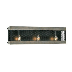 Canyon Chicken Wire 3-Light Vanity Light