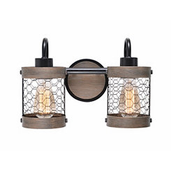 Canyon Chicken Wire 2-Light Vanity Light