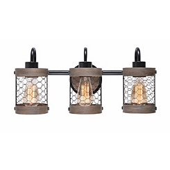 Canyon Chicken Wire 3-Light Vanity Sconce
