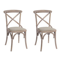 Natural Rose Hill Dining Chairs, Set of 2