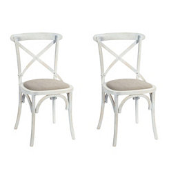 White Rose Hill Dining Chairs, Set of 2
