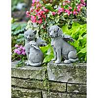 Cat and Dog Resin Angel Figurines, Set of 2