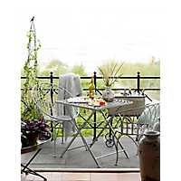 Weathered White Iron Chelsea Outdoor Table