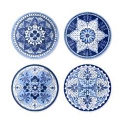 Cobalt Casita Melamine Salad Plates, Set of 4