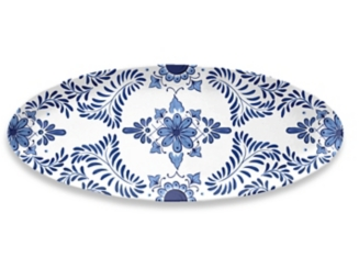Cobalt Casita Melamine Oval Platter