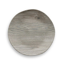 French Oak Melamine Salad Plates, Set of 6