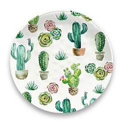 Desert Garden Melamine Dinner Plates, Set of 6