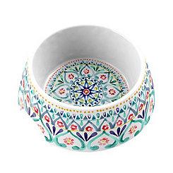 Multicolor Boho Medallion Medium Pet Bowl