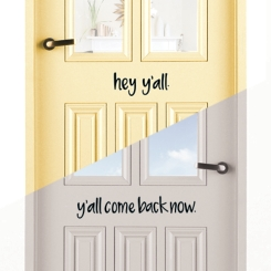Hey Y'all and Y'all Come Back 2-pc. Wall Decal Set