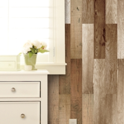 Brown Wood Plank 20-pc. Wall Decal Set