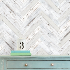 White Wood Plank 20-pc. Wall Decal Set