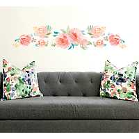 Pink Watercolor Floral 2-pc. Wall Decal Set