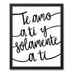 Te Quiero Framed Art Print