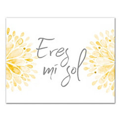 Eres Mi Sol Canvas Art Print