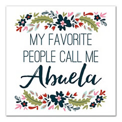Abuela Floral Canvas Art Print