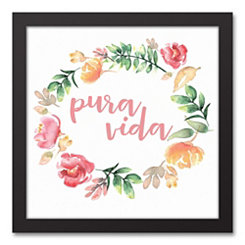 Pura Vida Floral Wreath Framed Art Print