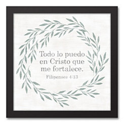 Philippians 4:13 Wreath Framed Art Print