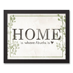 Home Is Where Abuela Is Framed Art Print