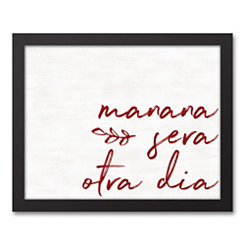 Manana Sera Framed Art Print