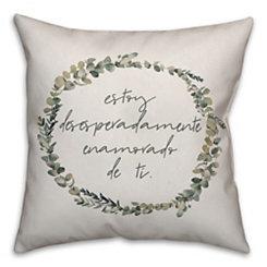 Estoy Desesperadamente Wreath Pillow