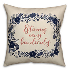 Bendecidos Wreath Pillow