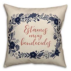 Bendecidos Wreath Pillow