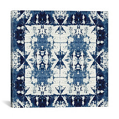 Shibori Border Canvas Art Print