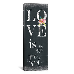 Chalky Love Canvas Art Print