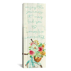 Someplace Unexpected Floral Canvas Art Print