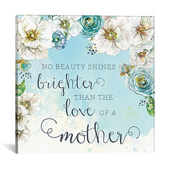 Mother's Love Floral Canvas Art Print