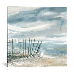 Misty Shore Canvas Art Print