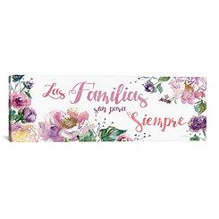 Las Familias Floral Canvas Art Print