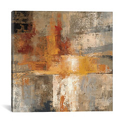 Silver and Amber Crop Canvas Art Print