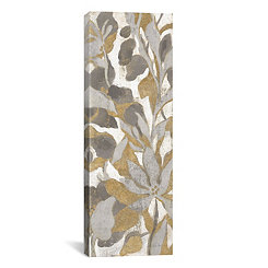 Gray and Gold Tropical Screen I Canvas Art Print