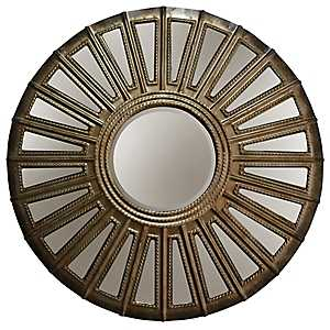 Covex Aged Silver Round Wall Mirror