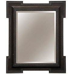 Weathered Gray 2-Step Crown Wall Mirror