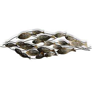 Fish School Metal Wall Sculpture