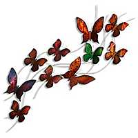 Burnished Butterfly Metal Wall Sculpture