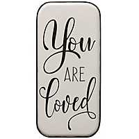 You Are Loved White Metal Wall Plaque