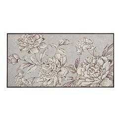 Sonya's Garden in Gray Framed Art Print