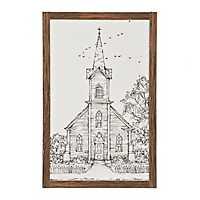 Drawn to Church Sketch Framed Art Print