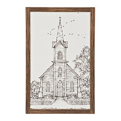 Drawn to Church Sketch Framed Art Print