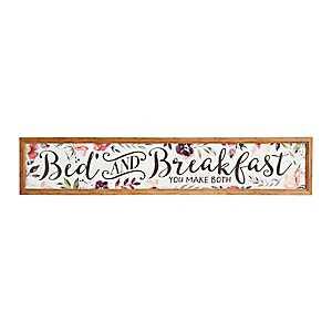 Bed and Breakfast Panel Framed Art Print