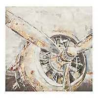 Gold Leaf Propeller Canvas Art Print