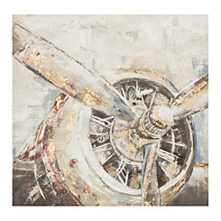 Gold Leaf Propeller Canvas Art Print