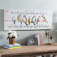 Under His Wings Canvas Art Print