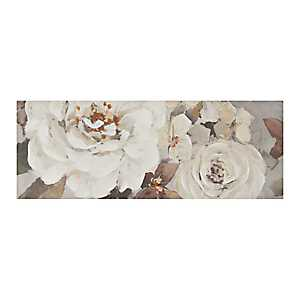 White Floral Dance Canvas Art Print