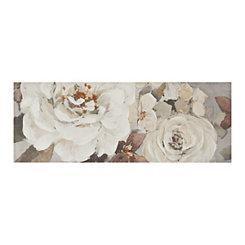 White Floral Dance Canvas Art Print
