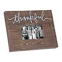 Wood and Tin Thankful Picture Frame, 4x6